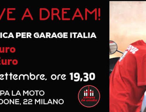 Ciapa la moto, lotteria benefica per Garage Italia